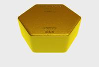 3dsmax hexagonal gold ingot