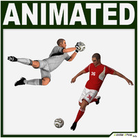 team soccer player goalkeeper 3d model
