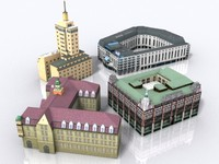 3d model of buildings-hotel