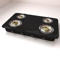 3d model burner stove