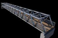 3d model bridge city