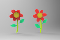 stylized flower 3d model