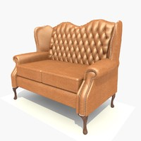 seater classic sofa chair 3d model