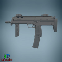mp7a1 submachine 3d model