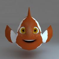 cartoon fish 3d max