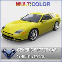obj generic sports car sakura