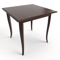 free dining table 3d model