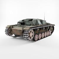 stug iii 3d model
