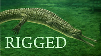 3dsmax gavial rigged