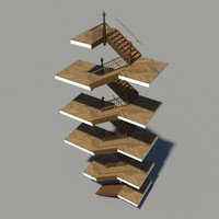 3ds max historical staircase stair