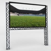3d model led scaffolding