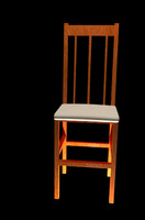 classic wood chair 3d model