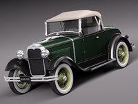3d model classic antique roadster 1929