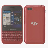 blackberry q5 red 3d model