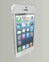 Apple Iphone 5 White/Silver HQ