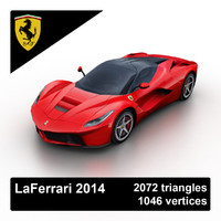 3d model 2014 laferrari sports car