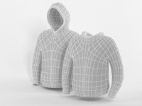 hooded sweater base mesh 3d 3ds