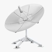 3d model antena dish