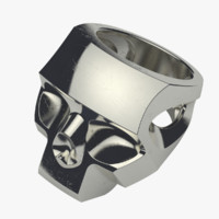 Faceted Skull Ring