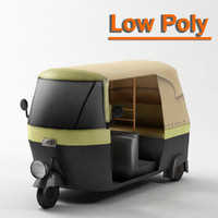 TukTuk V2 Low Poly