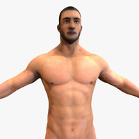 male modeled anatomy 3d model