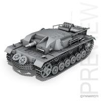 3ds - iii stug panzer tank