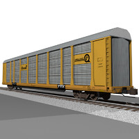 3d train car autorack