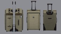 3d wheeled suitcase