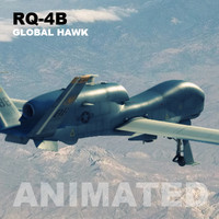 3d model uav rq-4b global hawk
