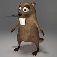 3dsmax beaver cartoon