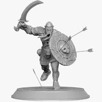 3d orcs berserker attack model