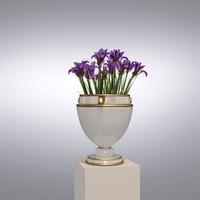 realistic vase flower 3d max