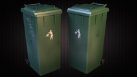 3d model trash dumpster 01