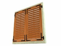 shutters greek dalmatian 3d model