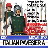 3d props set daz italian