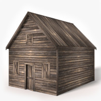 old wood shed 3d 3ds