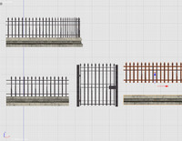 3d 3ds fence metal