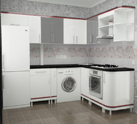 modern kitchen 3d max