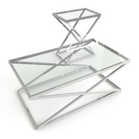 coffee table criss cross 3d model