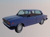lada 2107 3d model