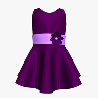 free purple dress girl 3d model