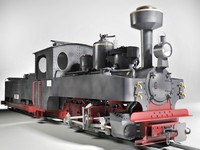 3d german steam locomotive model