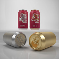 3ds max beer soda cans 330