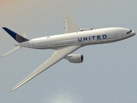 3d b 777-200 er united model
