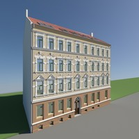 historical building facades 3d model