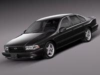 3d max v8 sedan luxury 1994