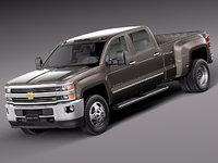 chevrolet silverado hd heavy 3d model