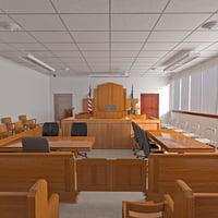 3d courtroom scene