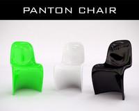 3d verner pantons chair model
