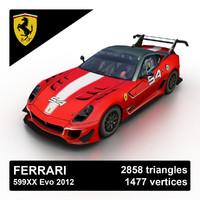2012 ferrari 599xx evo 3d 3ds